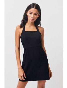 Kendall & Kylie Halter Linen Shift Dress by Pacsun