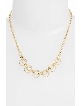 circle-chain-frontal-necklace by halogen