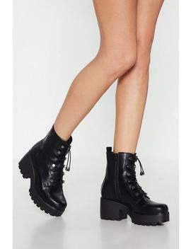 Toggle The Limelight Chunky Heeled Boot by Nasty Gal