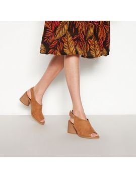 Faith   Tan Suedette 'dani' Block Heel Open Toe Mule by Faith
