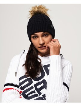 Croyde Cable Beanie by Superdry