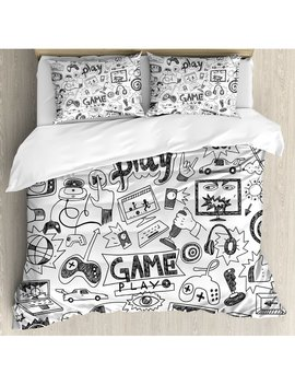 Video Games Duvet Cover Set by Ambesonne
