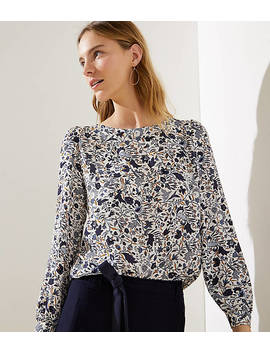 Floral Vine Shirttail Blouse by Loft
