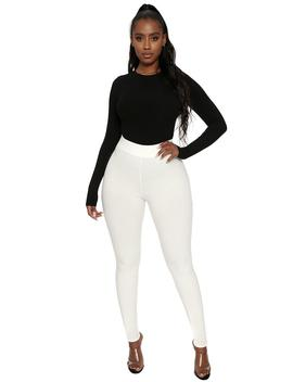 Oh So Snatched Ribbed Leggings by Naked Wardrobe