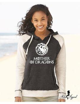 Mother Of Dragons Hoodie, Dragon Ball Khaleesi Daenerys Targaryen High Quality Super Soft Raglan Hooded Sweatshirt by Etsy