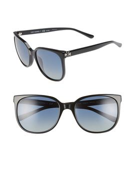 Revo 57mm Polarized Square Sunglasses by Tory Burch