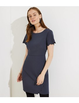 Petite Scalloped Wrap Dress by Loft