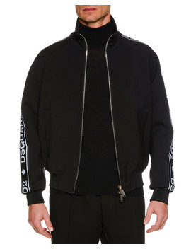 Men's Logo Side Tape Zip Front Sport Jacket by Neiman Marcus