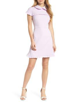 Emma Ruffle Crepe Dress by Gal Meets Glam