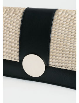 Leather Straw Crossbody Bag by & Other Stories