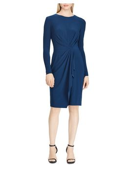 pleated-jersey-dress by lauren-ralph-lauren