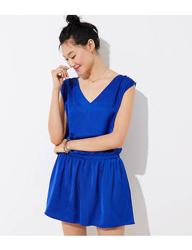 Tie Back Romper by Loft