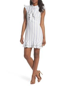 Stripe Ruffle Sheath Dress by Adelyn Rae