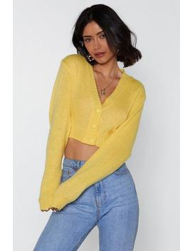 Button Cropped Cardigan by Nasty Gal