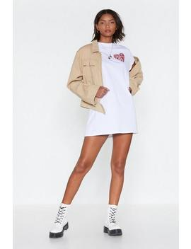 Trust Nobody T Shirt Dress by Nasty Gal