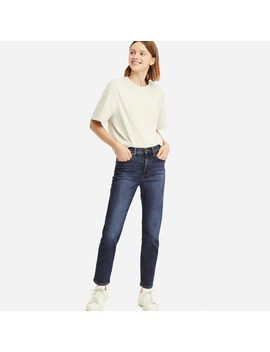 High Rise Straight Jeans by Uniqlo