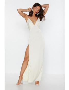 Look At You Satin Maxi Dress by Nasty Gal