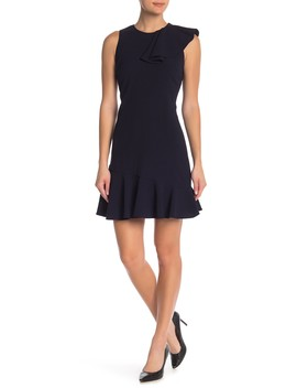 Front Ruffle Solid Dress by Eliza J