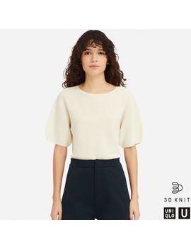 U 3 D Balloon Half Sleeve Sweater by Uniqlo