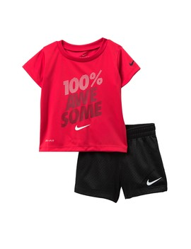 Ball Awesome Top & Shorts Set (Baby Boys) by Nike