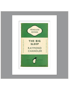 Penguin Books   Raymond Chandler The Big Sleep Unframed Print With Mount, 40 X 30cm by Unbranded
