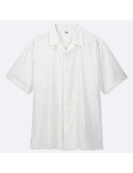 Men Open Collar Short Sleeve Shirt by Uniqlo