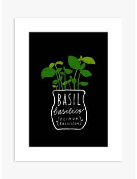 Ana Zaja Petrak   Basil Unframed Print & Mount, 40 X 30cm, Black by Unbranded