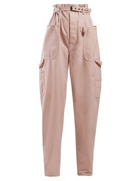 Inny Paperbag Waist Wide Leg Trousers by Isabel Marant