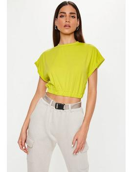 Lime Gathered Waist Crop Top by Missguided