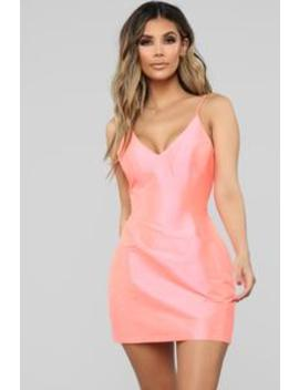 Brighten Your Day Mini Dress   Neon Pink by Fashion Nova