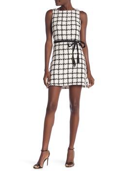 Sleeveless Tweed Mini Dress by Just Me