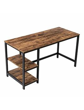 "Vasagle Computer Writing Desk, 55"" Office Study Desk For Laptops, With 2 Storage Shelves On Left Or Right, Table For Office Study Living Room, Stable Metal Frame, Easy Assembly Ulwd55 X by Vasagle"