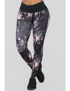 Crushin' It Active Leggings   Black/Pink by Fashion Nova