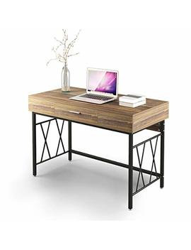 "Computer Desk With Drawer 47"" Writing Desk Office Desk Workstation Table For Home Office Study Room by Dewel"
