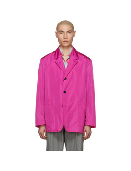 Pink Poplin Blazer by Dries Van Noten