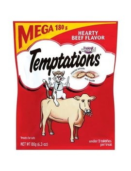 Temptations Whiskas Cat Treats, Hearty Beef Flavor 6.3 Oz. by Temptations