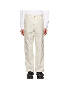 White Single Knee Trousers by Carhartt Work In Progress