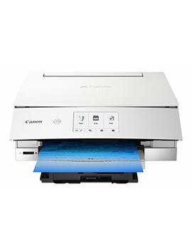 Canon Ts8220 Wireless All In One Photo Printer With Scannier And Copier, Mobile Printing, White by Canon