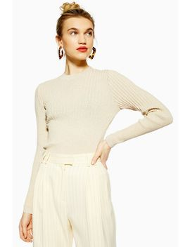Mixed Ribbed Knitted Top by Topshop