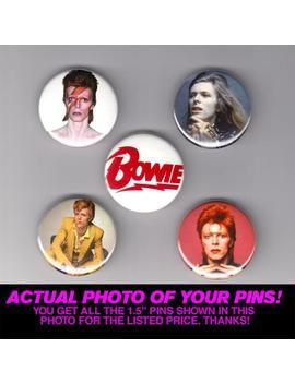 "David Bowie   1.5"" Pins / Buttons (Vintage Poster Print Lp Art Rock Pop Ziggy Stardust) by Etsy"