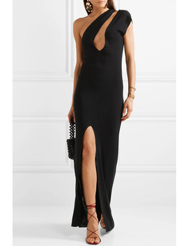 Azur One Shoulder Cutout Knitted Maxi Dress by Jacquemus
