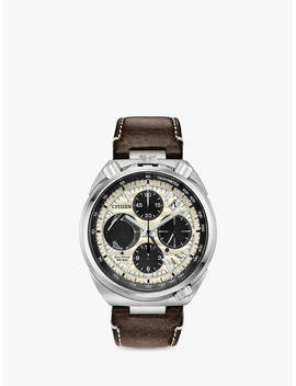 citizen-av0079-01a-mens-bullhead-promaster-tsuno-racer-eco-drive-limited-edition-chronograph-date-leather-strap-watch,-brown_cream by citizen