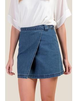 Kaleigh Denim Wrap Skirt by Francesca's