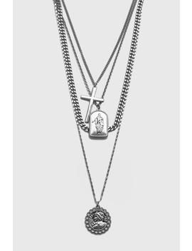 4 Layer Chain And Pendant Necklace by Boohoo
