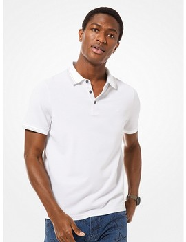 Greenwich Stretch Cotton Polo Shirt by Michael Kors Mens