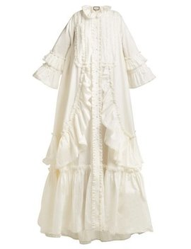 Ruffle Trimmed Cotton Poplin Gown by Gucci