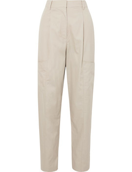 Finn Cotton Twill Tapered Pants by Tibi