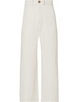 Stella Cropped Straight Leg Cotton Blend Pants by Sea