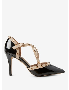 Black Pu 'Gemalina' Court Shoes by Dorothy Perkins