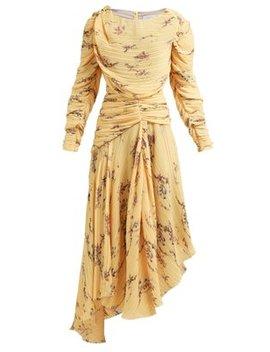 Sandra Floral Print Pleated Dress by Preen By Thornton Bregazzi